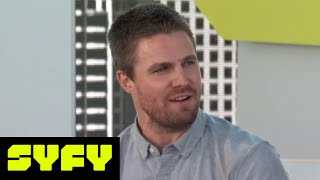 SYFY LIVE FROM COMIC-CON | Will Arrow's Stephen Amell Be On Men's Health Magazine Next?  | SYFY - SYFY