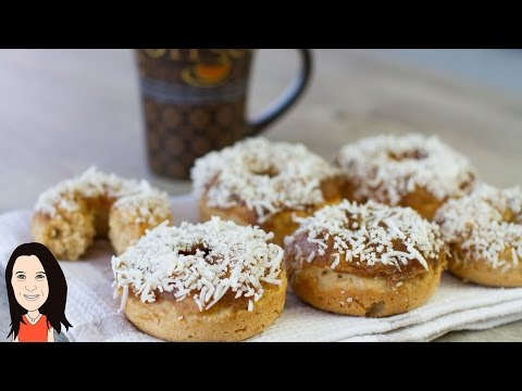 Caramel Coconut Baked Vegan Donuts - EASY Vegan Baking Recipe!