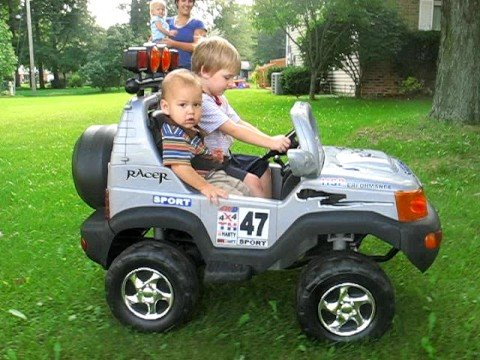 kids riding in their truck!