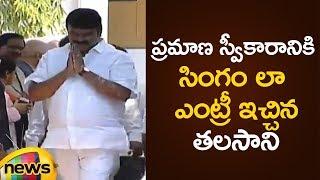 Talasani Srinivas Yadav Grand Entry | KCR Cabinet Ministers 2019 | Telangana Cabinet Ministers - MANGONEWS