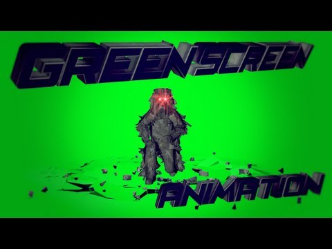 Ghillie model animation # Hancock | Green Screen