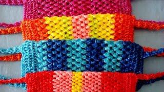 Мочалка крючком.  Как научиться вязать крючком.  Вязание крючком.  Крючок для начинающих 2016