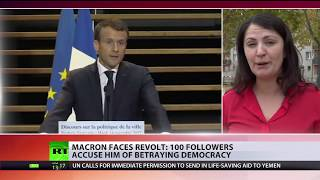 'Arrogant & undemocratic': Macron loses 100 party members in latest 'revolt' - RUSSIATODAY