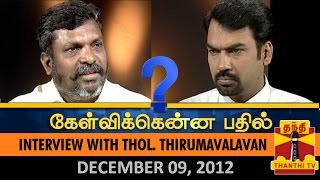 Best of Kelvikkenna Bathil : Interview with Thol. Thirumavalavan  – Thanthi TV Show
