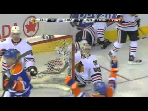 Edmonton Oilers' Sam Gagner 8 points - 4 goals night vs Chicago Blackhawks -