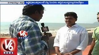 People facing problems with rise in temperature by effect of Hudhud cyclone - Vizag - V6NEWSTELUGU