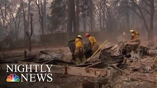 Search Crews Comb Through Ruins For Victims Of Northern California Wildfire | NBC Nightly News - NBCNEWS