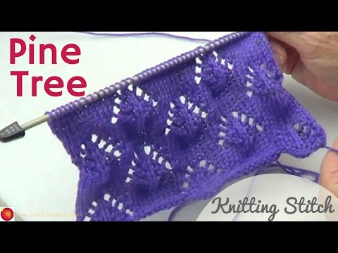 Pine Tree Knitted Stitch