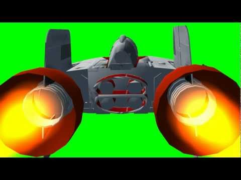 Star Wars &quot;A-Wing&quot; Fighter  in flight  - &quot;free Chroma Key Effects&quot;