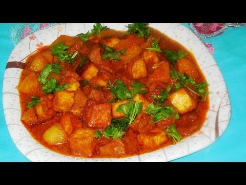 Easy Method To Make North Indian   Alu Paneer Mashala