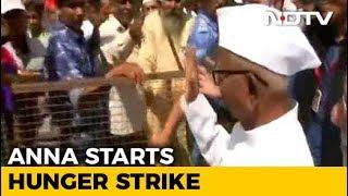 Anna Hazare Begins Hunger Strike At Delhi's Ramlila Maidan Over Lokpal - NDTV
