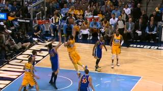 JaVale McGee Dunks All Over Andrew Bogut