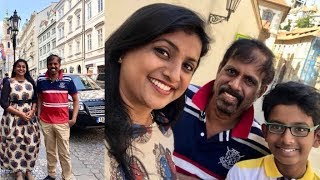 Actress Roja Selvamani Family In Disneyland Photos | Roja Selvamani Family In Prague - RAJSHRITELUGU