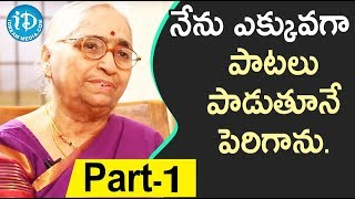 Renowned Writer Indraganti Janakibala Interview - Part #1 || Akshara Yatra With Mrunalini - IDREAMMOVIES