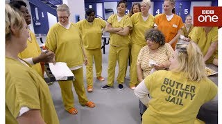 Miriam's first time inside a US jail - Miriam's Big American Adventure - BBC One - BBC