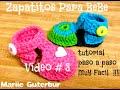 Como Hacer Zapatitos para Bebe: Video #3  tejidos con Gancho