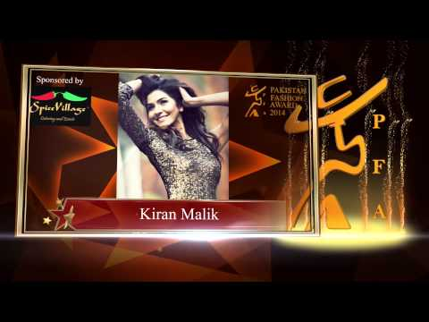 Pakistan Fashion Awards Female Model of The Year 2014