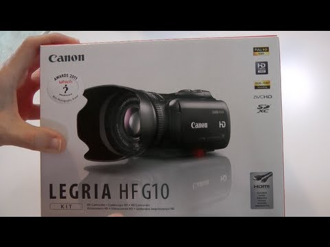 Canon Legria (Vixia) HF G10 Camcorder Unboxing &amp; Product Tour