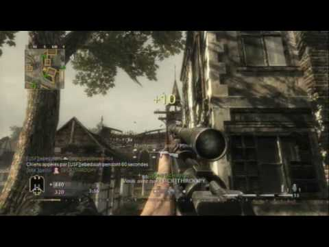 call of duty 5 sniper montage N°4 sensibilité 9 spécial flash scope cod5 Ps3