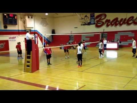Home Game (ECVHS) against Lutheran High School volleyball game