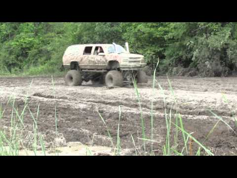 Big Orange Chevy 4x4 Mudding At 4 Play Mud Bog