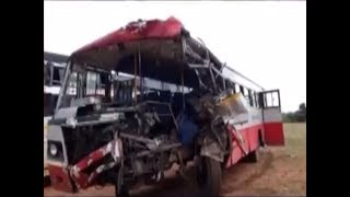 Bus crashes into lorry in Karnataka; 2 killed, several injured - TIMESOFINDIACHANNEL