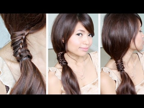 Chinese Staircase Stitch Ponytail Hairstyle | Hair Tutorial