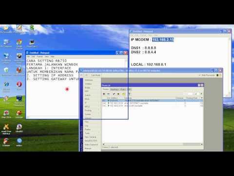 setting RB750 STD versi warnetcepat@yahoo.com 2013