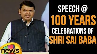 Maharashtra CM Devendra Fadnavis Speech at 100 years celebrations of Shri Sai Baba Samadhi|MangoNews - MANGONEWS