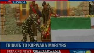Jammu & Kashmir: Wreath laying ceremony of Policeman Deepak Thusoo underway in Srinagar - NEWSXLIVE