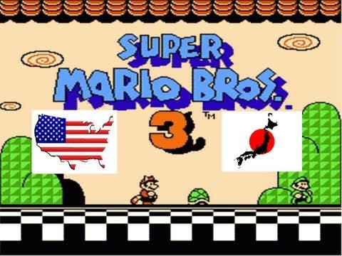 Super Mario Bros 3 English VS Japanese Comparison (USA Vs Japan) on the NES & Famicon Game Console