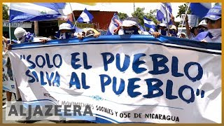 🇳🇮 Nicaraguans marchers call for release of political prisoners | Al Jazeera English - ALJAZEERAENGLISH
