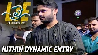 Nithin Dynamic Entry at #LIE Movie Pre Release Event - Arjun, Megha Akash | Hanu Raghavapudi - 14REELS