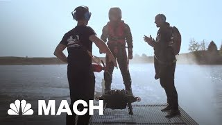 This Futuristic Jet Pack That Lets Users Fly Up To 10,000 Feet In The Sky | Mach | NBC News - NBCNEWS