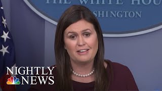 Sanders Says She 'Can't Guarantee' There's No Tape Of Trump Using The 'N-Word' | NBC Nightly News - NBCNEWS