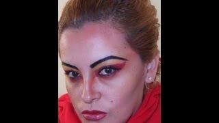 serie halloween 1 maquillaje de diabla youtube