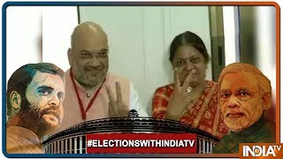 Lok Sabha Elections: BJP President Amit Shah And His Wife Sonal Shah Cast Their Votes In Naranpura - INDIATV