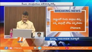 CM Chandrababu Teleconference On Drought, Agriculture and Neeru Pragathi | Amaravathi | iNews - INEWS