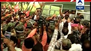 BJP leaders held in Birbhum after staging protest - ABPNEWSTV