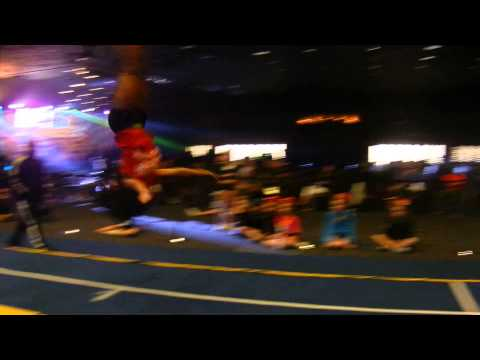 Power Tumbling   Angel Rice   WARM UP pass double layout to double tuck   The All Star Games 2014 Da