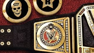 WWE - CUSTOM SIDE PLATES FOR THE WWE CHAMPIONSHIP