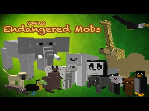 Minecraft Mods Endangered Mobs mod 15 NEW ANIMALS RIDE ELEPHANTS & MORE
