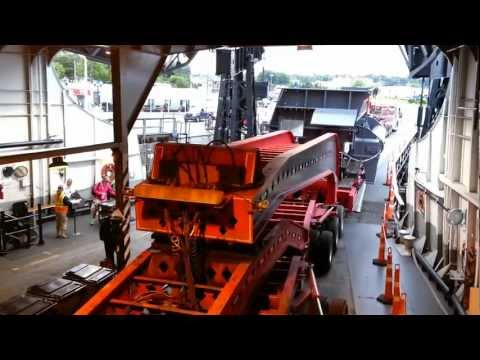198' Long - 350,000 lbs - Oversize Backing Onto The S.S. Badger (Part 2 of 2) 