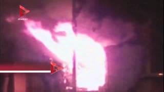 بالفيديو  تفاصيل حريق