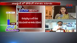 Telangana Assembly Election Live Updates : 49 per cent Voting till 1pm | CVR News - CVRNEWSOFFICIAL