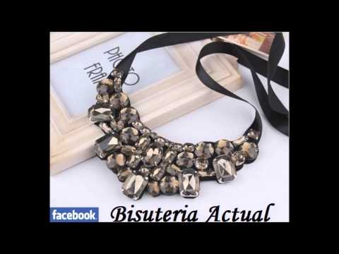 Bisuteria Actual collares colgantes necklace collana collier babero maxi bib