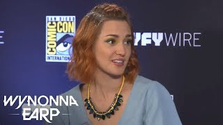 Wynonna Earp's Nicole and Waverly on #WayHaught | San Diego Comic-Con 2017 | SYFY WIRE - SYFY