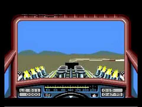 Commodore Amiga: Stunt Car Racer - The Little Ramp.