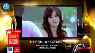 SIIMA 2014 Best Actress in Telugu || Samntha || Attarintiki Daredi - IDREAMMOVIES