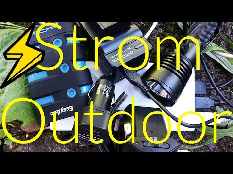 Stromversorgung im Outdoor-Bereich [Info Video] Powerbank, Solar Panel, USB Adapter